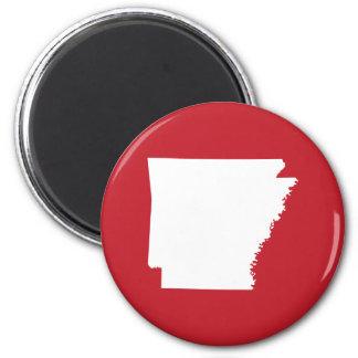 Arkansas Red and White Magnet