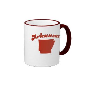 ARKANSAS Red State Ringer Coffee Mug