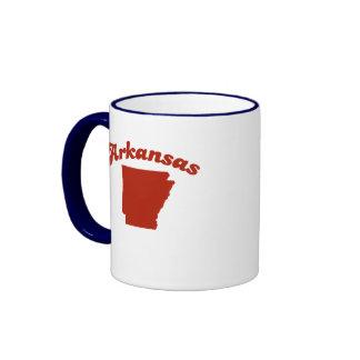ARKANSAS Red State Ringer Mug