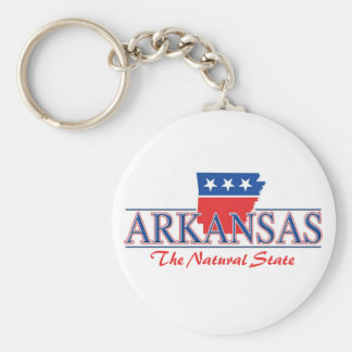 Arkansas Red White & Blue Keychain