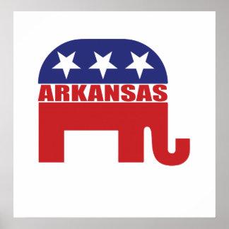 Arkansas Republican Elephant Poster