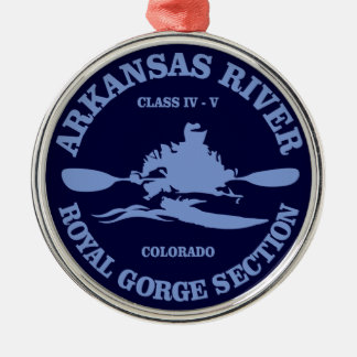 Arkansas River (rd) Silver-Colored Round Decoration