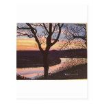 Arkansas River Sunset Painting Postcards