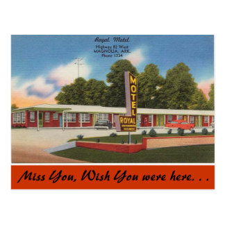 Arkansas, Royal Motel Postcard