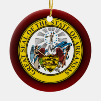 Arkansas Seal Christmas Ornament