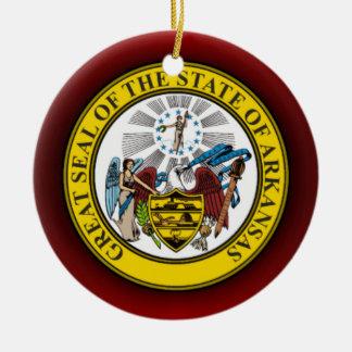Arkansas Seal Christmas Ornament