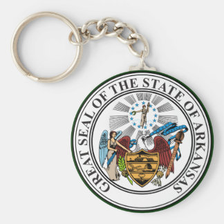 Arkansas Seal Keychain