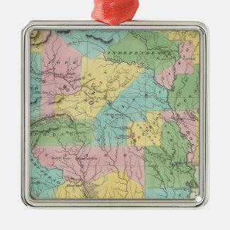 Arkansas Silver-Colored Square Decoration