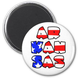 Arkansas Stacked - Magnet