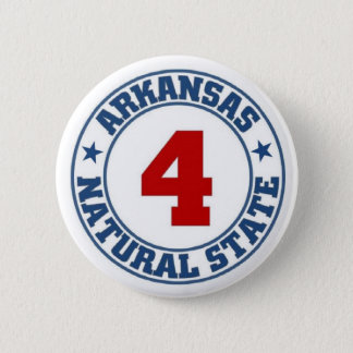 Arkansas State 6 Cm Round Badge