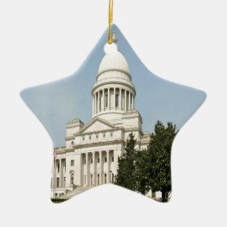 Arkansas State Capitol Little Rock Christmas Ornament
