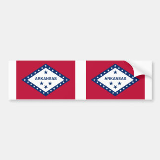 Arkansas State flag Bumper Sticker