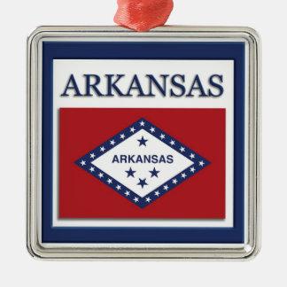 Arkansas State Flag Christmas Ornament
