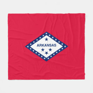 Arkansas State Flag Design Fleece Blanket