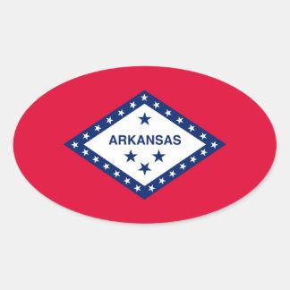 Arkansas State Flag Design Oval Sticker