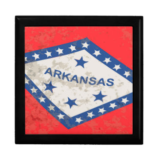 Arkansas State Flag Grunge Gift Box