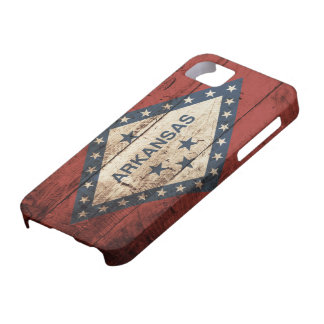 Arkansas State Flag on Old Wood Grain iPhone 5 Cover