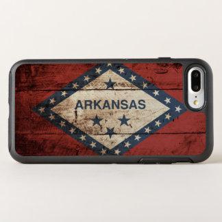 Arkansas State Flag on Old Wood Grain OtterBox Symmetry iPhone 8 Plus/7 Plus Case