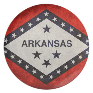 Arkansas State Flag Party Plate