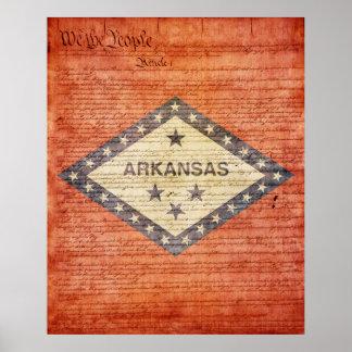 Arkansas State Flag Poster
