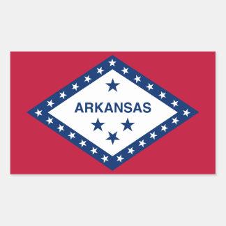 Arkansas State Flag Rectangular Stickers