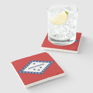 Arkansas State Flag Stone Beverage Coaster