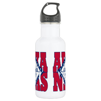 Arkansas state flag text 532 ml water bottle
