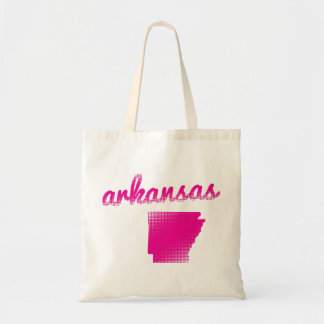 Arkansas state in pink tote bag