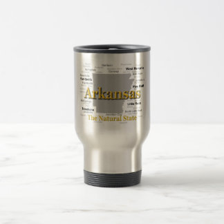 Arkansas State Pride Map Silhouette Coffee Mugs