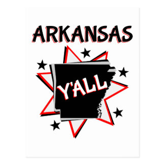 Arkansas State Pride Y'all Postcard