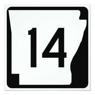 Arkansas State Route 14 13 Cm X 13 Cm Square Invitation Card
