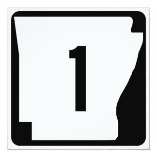 Arkansas State Route 1 13 Cm X 13 Cm Square Invitation Card