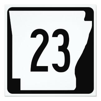 Arkansas State Route 23 13 Cm X 13 Cm Square Invitation Card