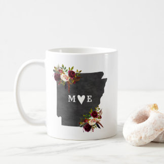 Arkansas State Rustic Country Wedding Monogram Coffee Mug