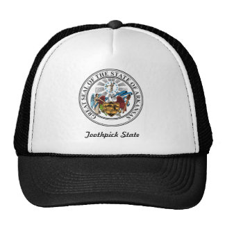 Arkansas State Seal and Motto Mesh Hat