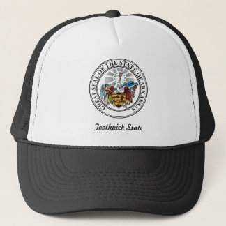 Arkansas State Seal and Motto Trucker Hat