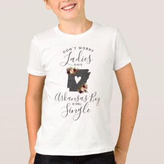 """Arkansas State Wedding Ring Bearer """"Still Single"""" T-Shirt"""