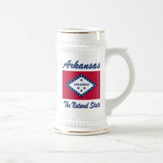Arkansas The Natural State Beer Stein Mug