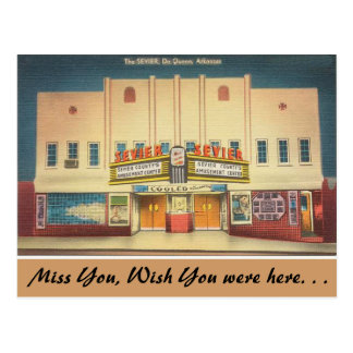 Arkansas, The Sevier Theater Postcard