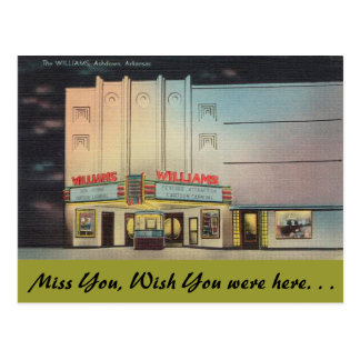Arkansas, The Williams Theater Postcard
