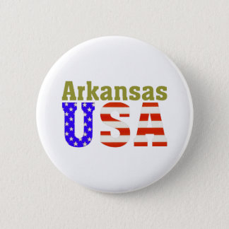 Arkansas USA! 6 Cm Round Badge