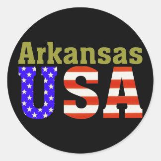 Arkansas USA! Classic Round Sticker