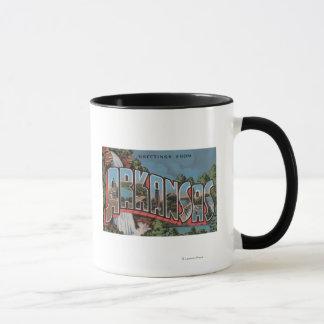 Arkansas (Waterfall Scene) - Large Letter Scenes Mug