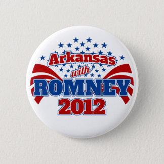 Arkansas with Romney 2012 6 Cm Round Badge