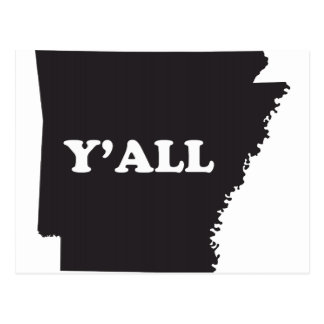 Arkansas Yall Postcard