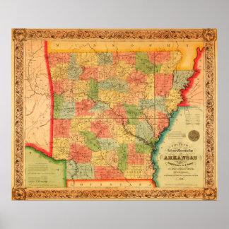 ArkansasPanoramic MapArkansas Poster