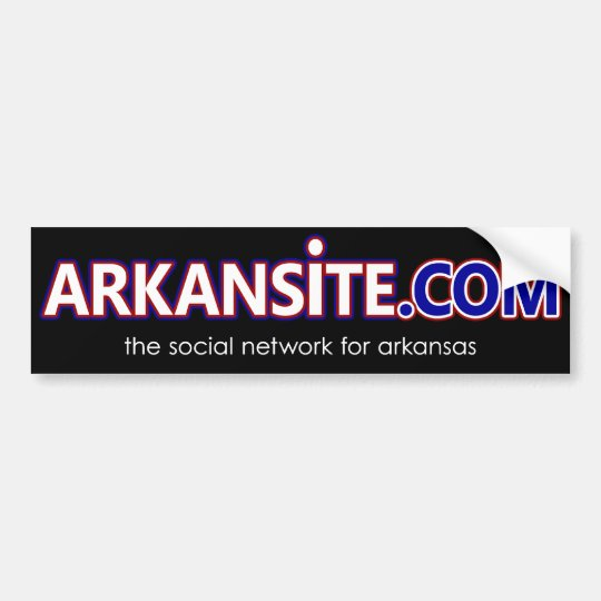 arkansite sticker in black
