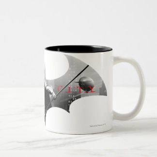 Arkham City Bat Symbol Two-Tone Coffee Mug