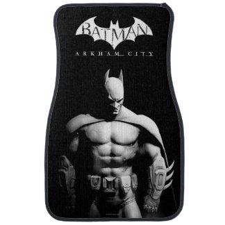 Arkham City   Batman Black and White Wide Pose Car Mat