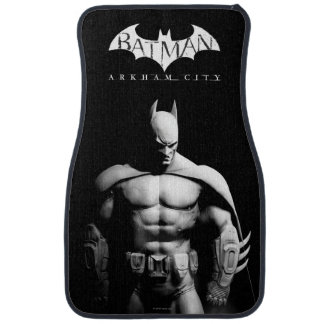 Arkham City | Batman Black and White Wide Pose Floor Mat